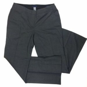 J. Crew 6 Pant City Fit Gray Black Lined Career